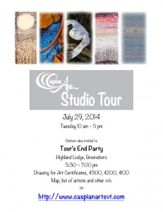 Caspian Arts Studio Tour announcement